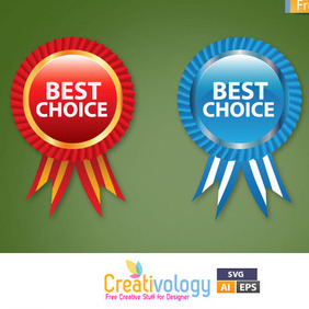 Free Vector Best Choice Label - бесплатный vector #209389