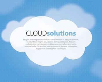 Cloud Solutions - vector #209449 gratis