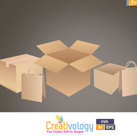 Free Vector Shipping Box - vector gratuit #209469