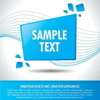 Rounded Blue Square - vector gratuit #209509