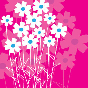 Flowers Of Love Card - vector gratuit #209579