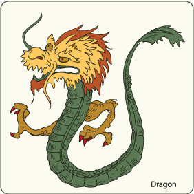 Dragon 1 - vector #209589 gratis