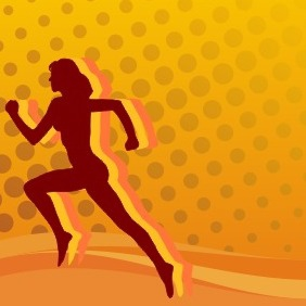 The Running Woman - Free vector #209689