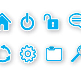 8 Web Icons Free Vector - Free vector #209719
