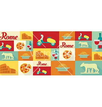 Free travel and tourism icons rome vector - Free vector #209739