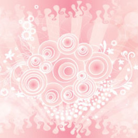 Retro Pinked Floral Art Free Design - Free vector #209749