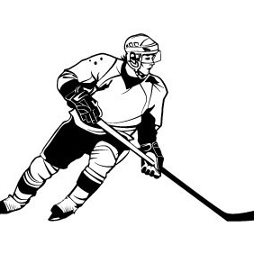 Hockey Player Vector Image - vector #209979 gratis