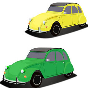 Little French Citroen Car - Free vector #210189