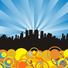 Abstract City Background - vector gratuit #210279