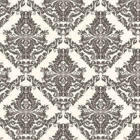 Free Vector Damask Seamless Pattern - Free vector #210409