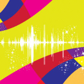 Sound Colored Stars Free Lines Design - Free vector #210469