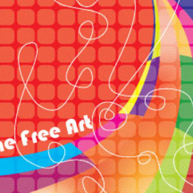 The Dancing Colored Free Vector Graphic - Kostenloses vector #210489