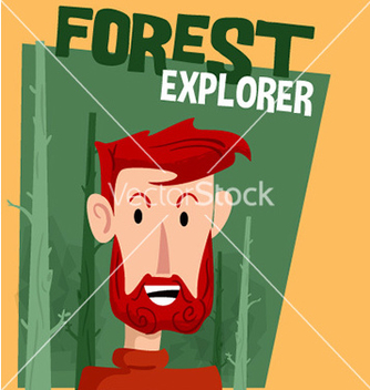Free forest explorer cartoon vector - Free vector #210679