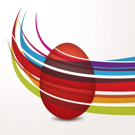Coloring Easter Egg - Free vector #210759