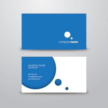 Circle Business Card - vector gratuit #210779