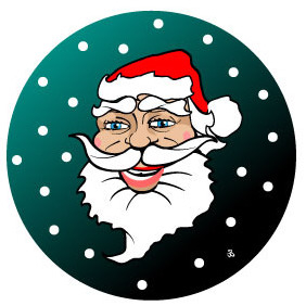 Santa Claus Face Vector - бесплатный vector #210789