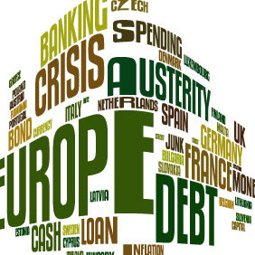 European Debt Crisis Word Cloud Vector - Free vector #210829