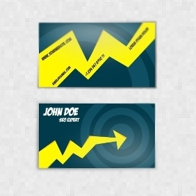 SEO Expert Business Card - vector #210859 gratis