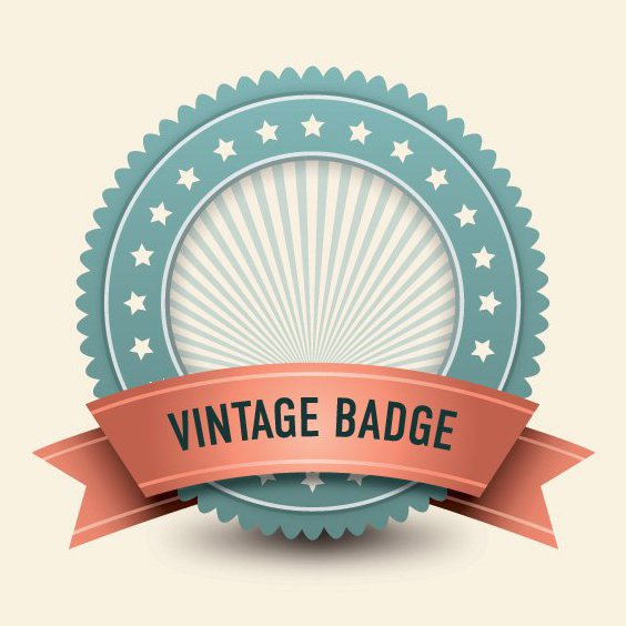 Vintage Badge - Free vector #210899