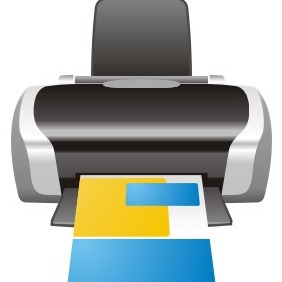 InkJet Printer - vector #211029 gratis