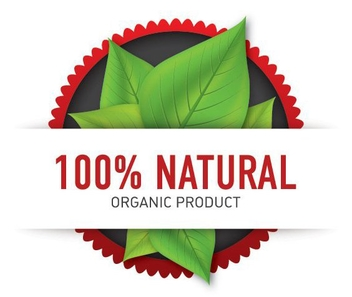 Organic Product Label - vector gratuit #211049