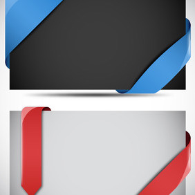 Vector Ribbons And Corners - Free vector #211079