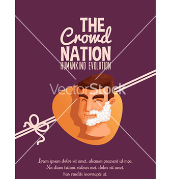 Free crowd nation cartoon design vector - Kostenloses vector #211199