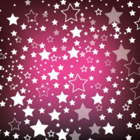 Dark Purple Background Starsy Vector - Free vector #211239