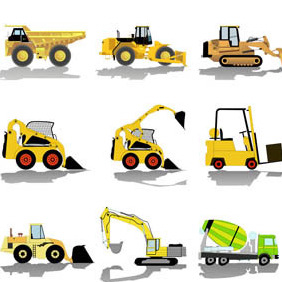 CONSTRUCTION-VEHICLES - Free vector #211379