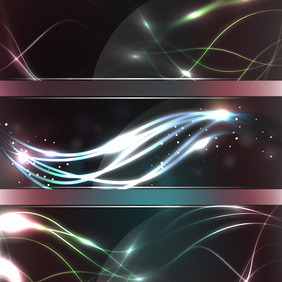 Glass Banners - vector gratuit #211399