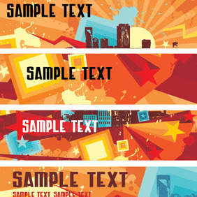 Urban Style Banners - Free vector #211409