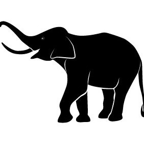Elephant Vector Image - Free vector #211619