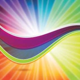 Colored Abstract Rainbow Free Vector - vector #211679 gratis