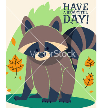 Free cartoon raccoon design vector - vector #211709 gratis