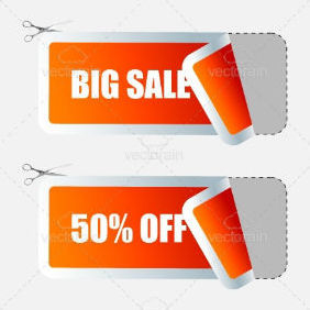 Sale Tags, Shopping Time - vector #211779 gratis