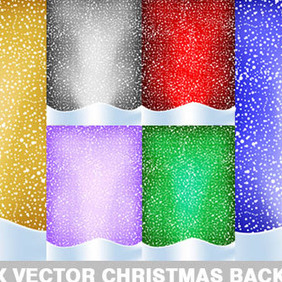 Christmas Background Collection - vector gratuit #211859