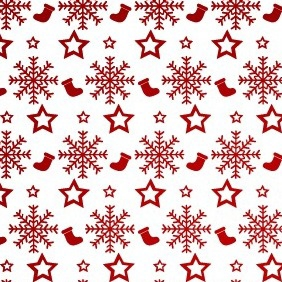 Christmas Stockings Vector Pattern - бесплатный vector #211869