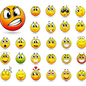 Smiley Collection - vector gratuit #211939