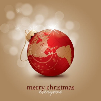 Merry Christmas Everyone - vector gratuit #211959