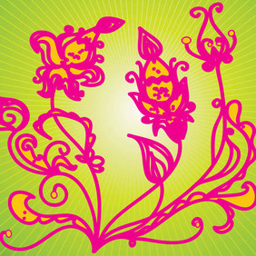 Flower Drawing - Free vector #211969