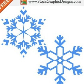 Snowflakes Free Vector Graphics Images - Free vector #211999