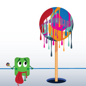 Lollipop - Free vector #212019