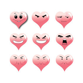Love Face Expression - Free vector #212039
