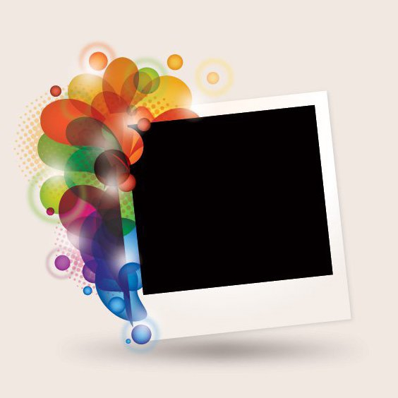 Fancy Polaroid Frame - Free vector #212109