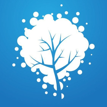 Snowy Tree - Free vector #212209
