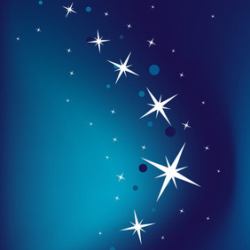 Blue Background With Stars - vector #212219 gratis