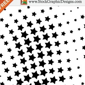 Free Vector Halftone Star Design Elements - бесплатный vector #212229