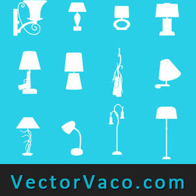 Lamp Silhouette - Free vector #212279