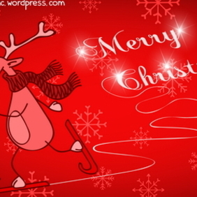 Christmas Greeting Card 10 - Free vector #212289