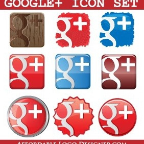Google Plus Icon Pack - vector #212349 gratis